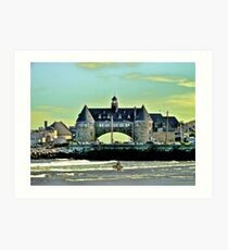 Narragansett Pier Beach - The Towers *featured Art Print