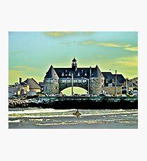 Narragansett Pier Beach - The Towers *featured Photographic Print