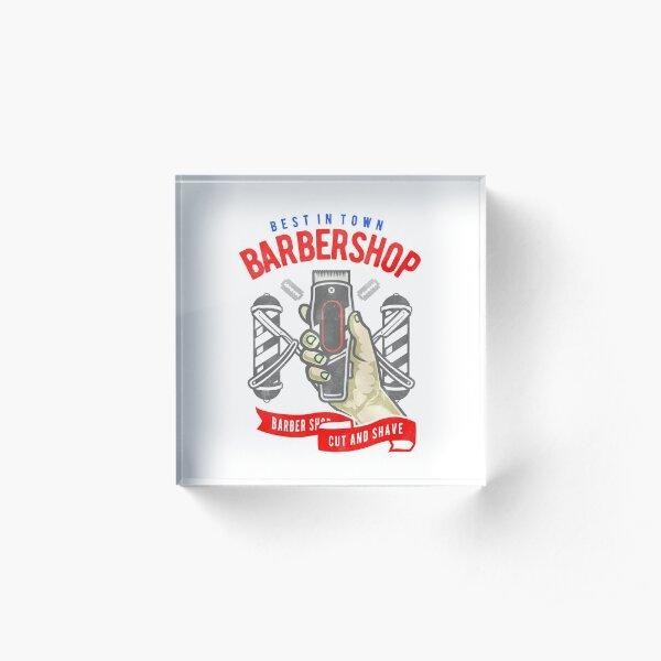 Barbershop Acrylic Block