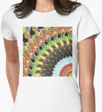 Abstract Collage of Colors 5 Womens Fitted T-Shirt