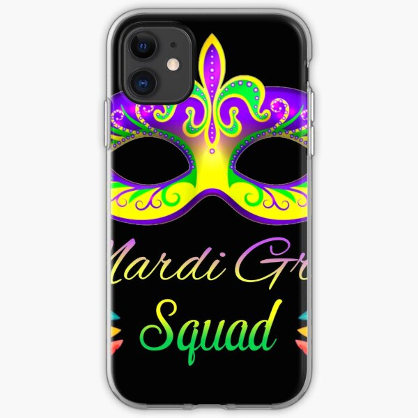 Mardi gras t shir iPhone Soft Case