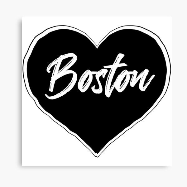 Boston - Black Heart Edition Canvas Print