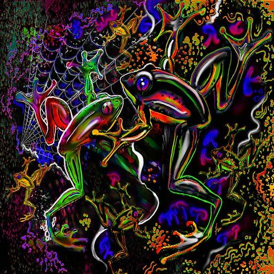 """PSYchedelic Frogs"" von Steve Farr"