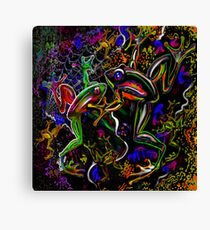 """""""PSYchedelic Frogs"""" Canvas Print"""