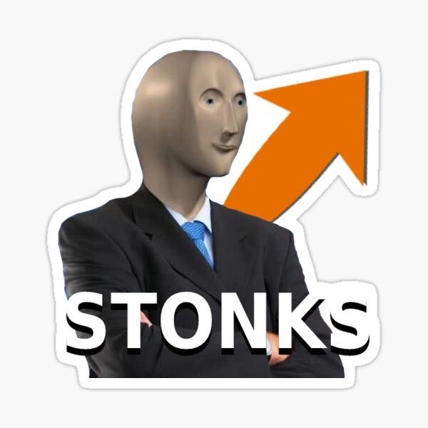 STONKS Stocks Sticker Sticker