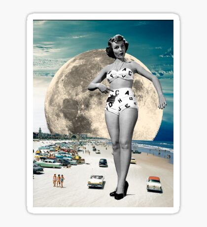 Alpha Betty at the beach Sticker