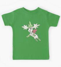 Shaymin Sky Forme by Derek Wheatley Kids Tee