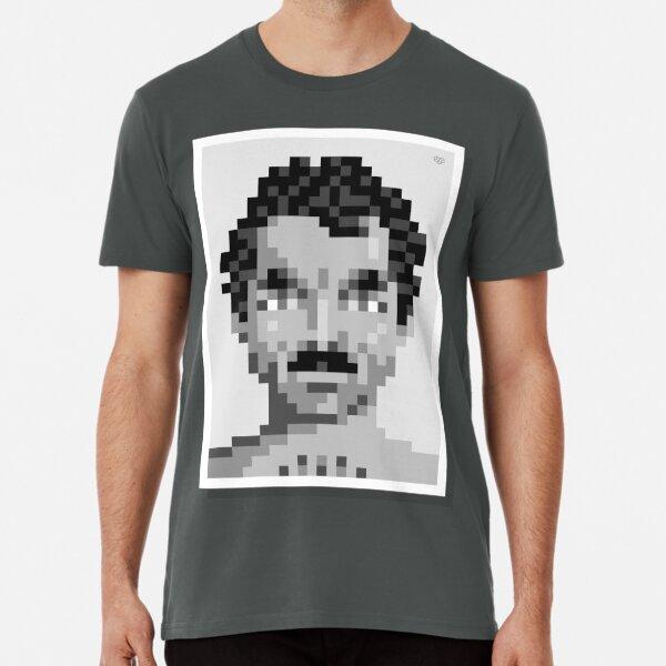 His mustache — Mono Premium T-Shirt