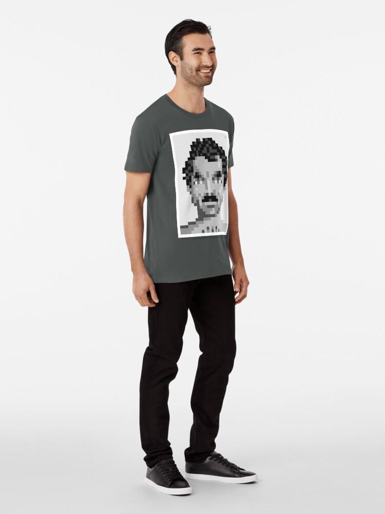 Alternate view of His mustache — Mono Premium T-Shirt