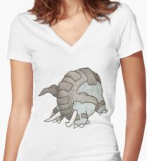 Donphan by Derek Wheatley Women's Fitted V-Neck T-Shirt