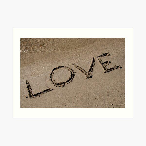 Love Written on the Sand Art Print