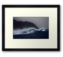 Hula Waves Framed Print