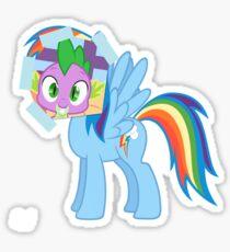 Spike as dash Sticker