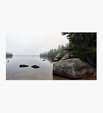 Granite Boulders - Bear Pond (Waterford,  Maine) Photographic Print