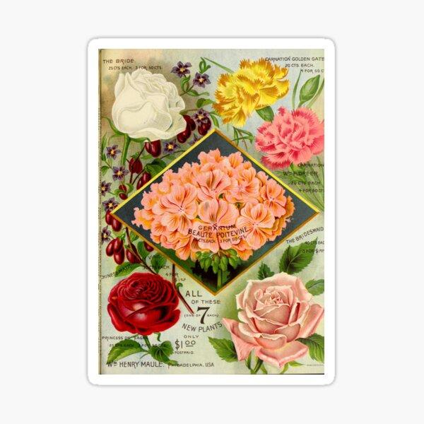 1893 Maule's seed catalogue. Sticker