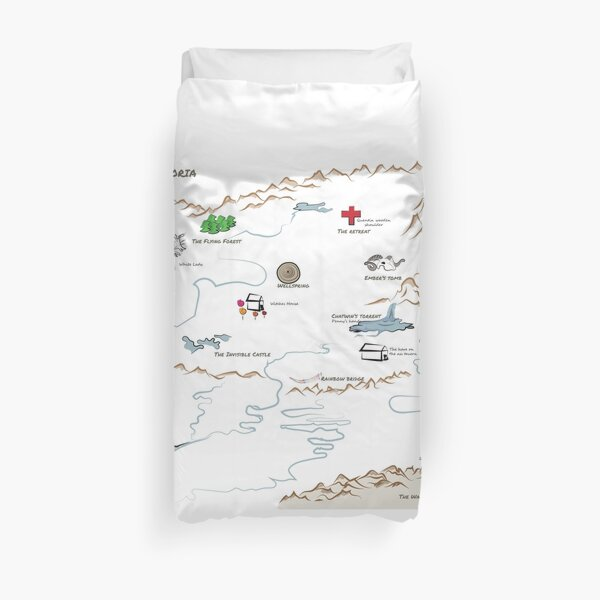 Fillory Map (with Hand Writing Quest) Duvet Cover