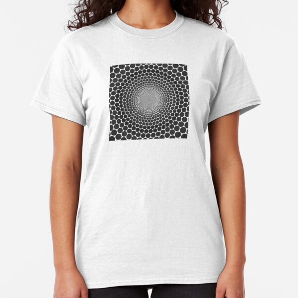 Optical Illusion Radial Gradient Slate on White NOIR 2 Classic T-Shirt