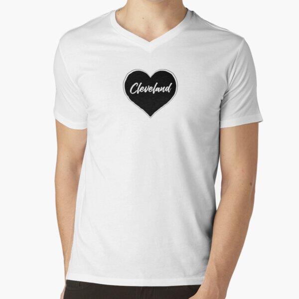 Cleveland - Black Heart Edition V-Neck T-Shirt