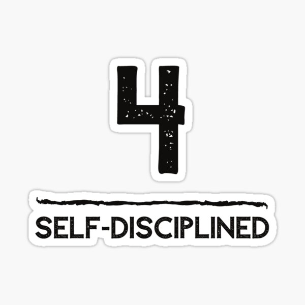 Life Path Number 4 Self-Discipline Sticker