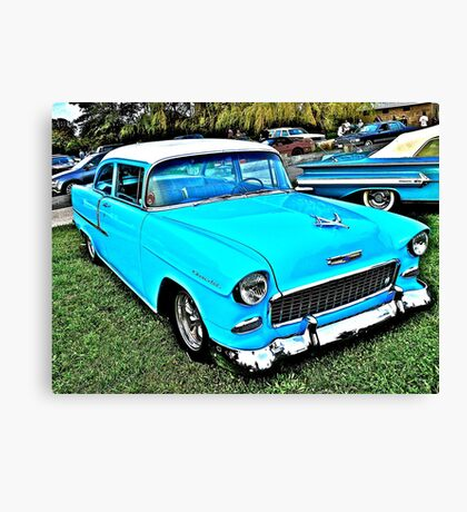 1955 Chevy Coupe - Oakland Beach - Cruise Night Canvas Print