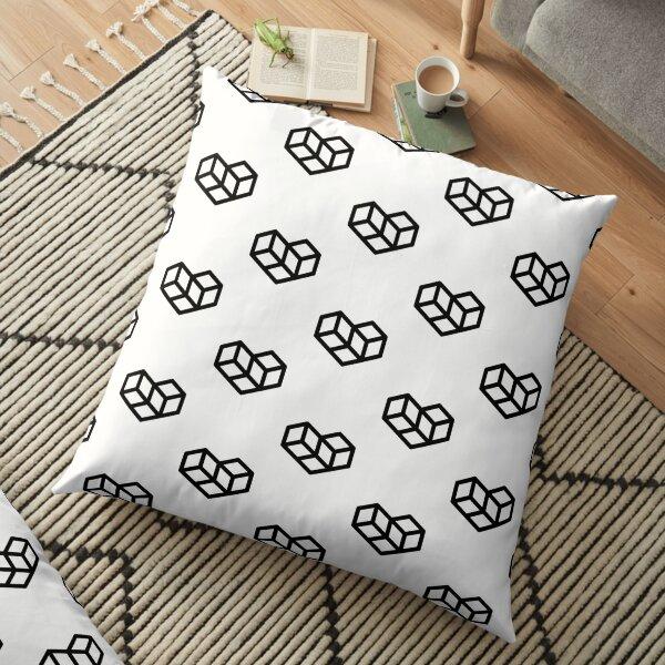 Original VIP logo on white Floor Pillow