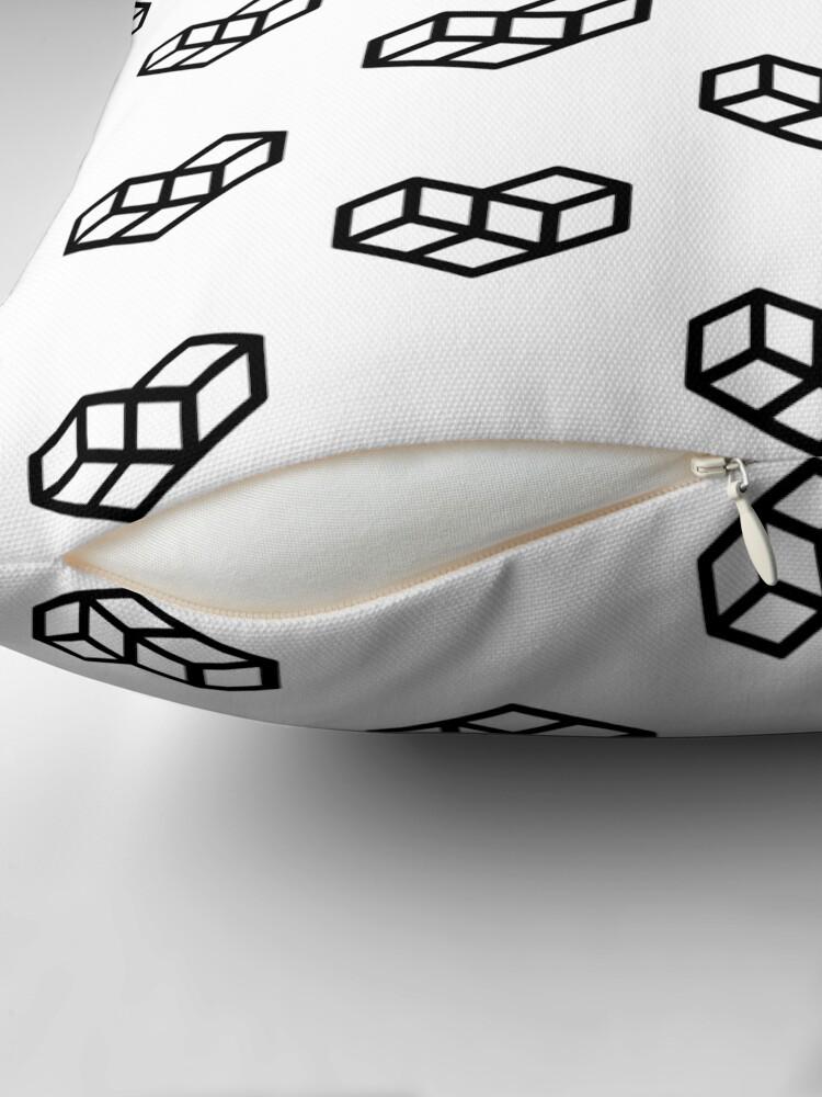Alternate view of Original VIP logo on white Floor Pillow