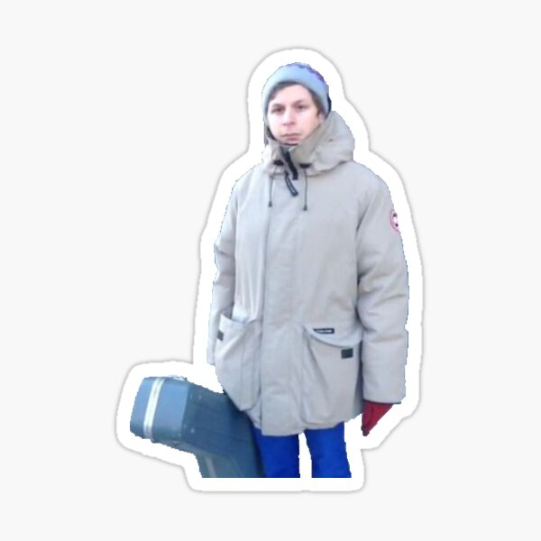 Michael cera big coat Sticker