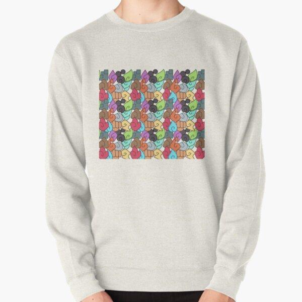 Temtem Element Types Pattern Pullover Sweatshirt
