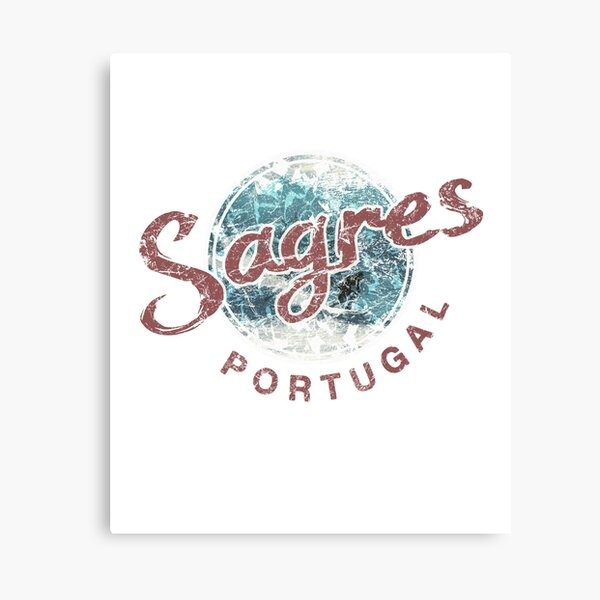 Portugal Sagres Vintage Surfing Canvas Print