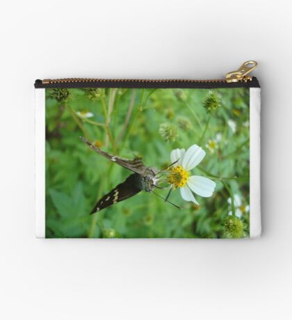 Long-tailed Blue Skipper on Spanish Needles Studio Pouch
