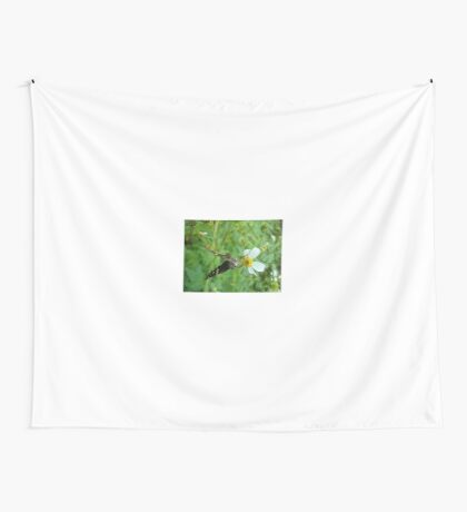 Long-tailed Blue Skipper on Spanish Needles Wall Tapestry