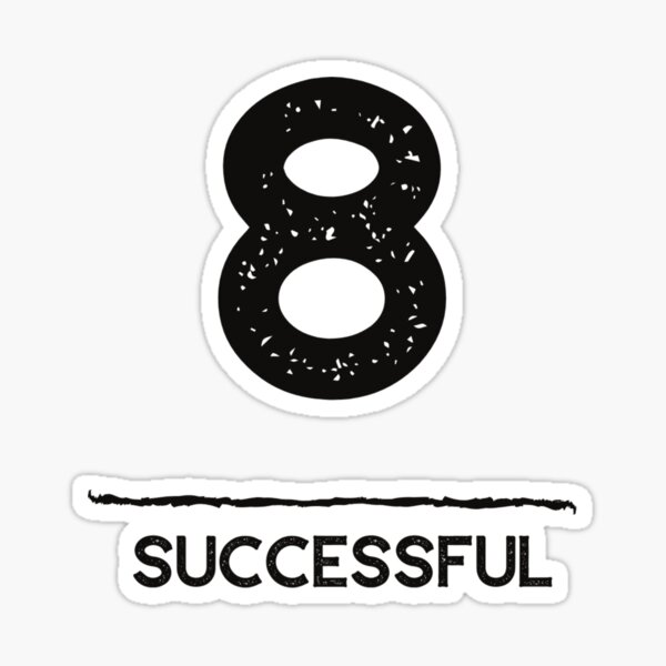 Life Path Number 8 Successful Sticker