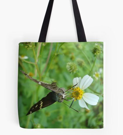 Long-tailed Blue Skipper on Spanish Needles Tote Bag
