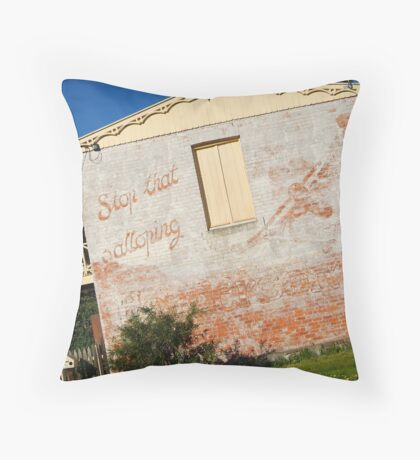 Stop that Galloping Henderson's Throw Pillow
