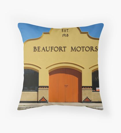 Beaufort Motors Throw Pillow