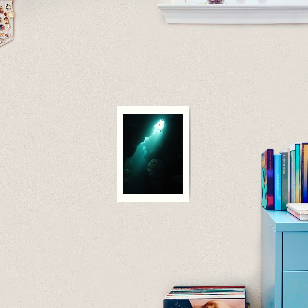 Crevice with Gorgonian Art Print