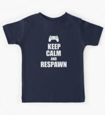 Gamer, Keep calm and respawn Kids Tee