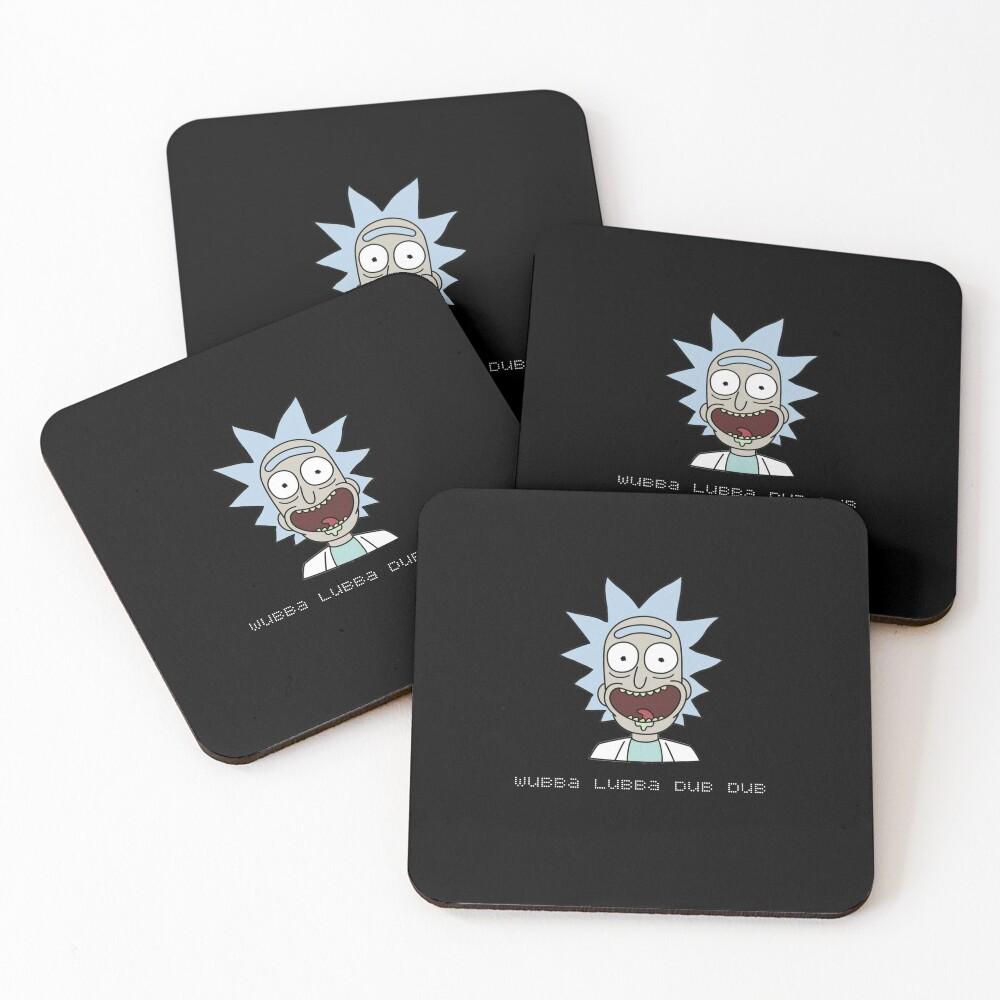 Wubba Lubba Dub Dub Rick Sanchez ; Rick and Morty. Coasters (Set of 4)