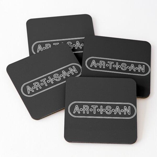 Artisan Axe Co. Logo- Crafters, Artisans, Artists, Restoration Coasters (Set of 4)