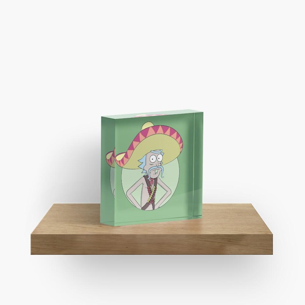 Mexican Rick Sanchez - Rick and Morty Acrylic Block
