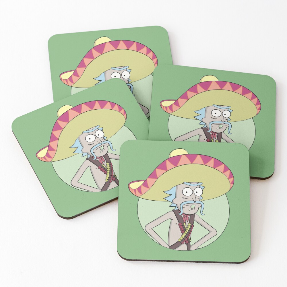 Mexican Rick Sanchez - Rick and Morty Coasters (Set of 4)