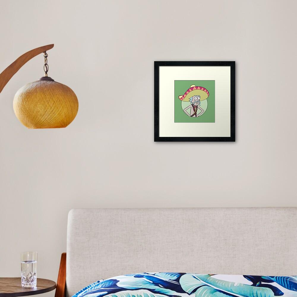 Mexican Rick Sanchez - Rick and Morty Framed Art Print