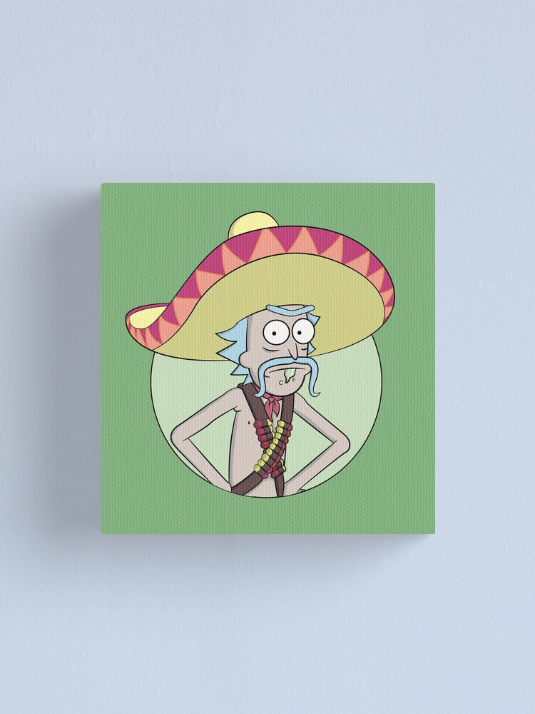 Alternate view of Mexican Rick Sanchez - Rick and Morty Canvas Print