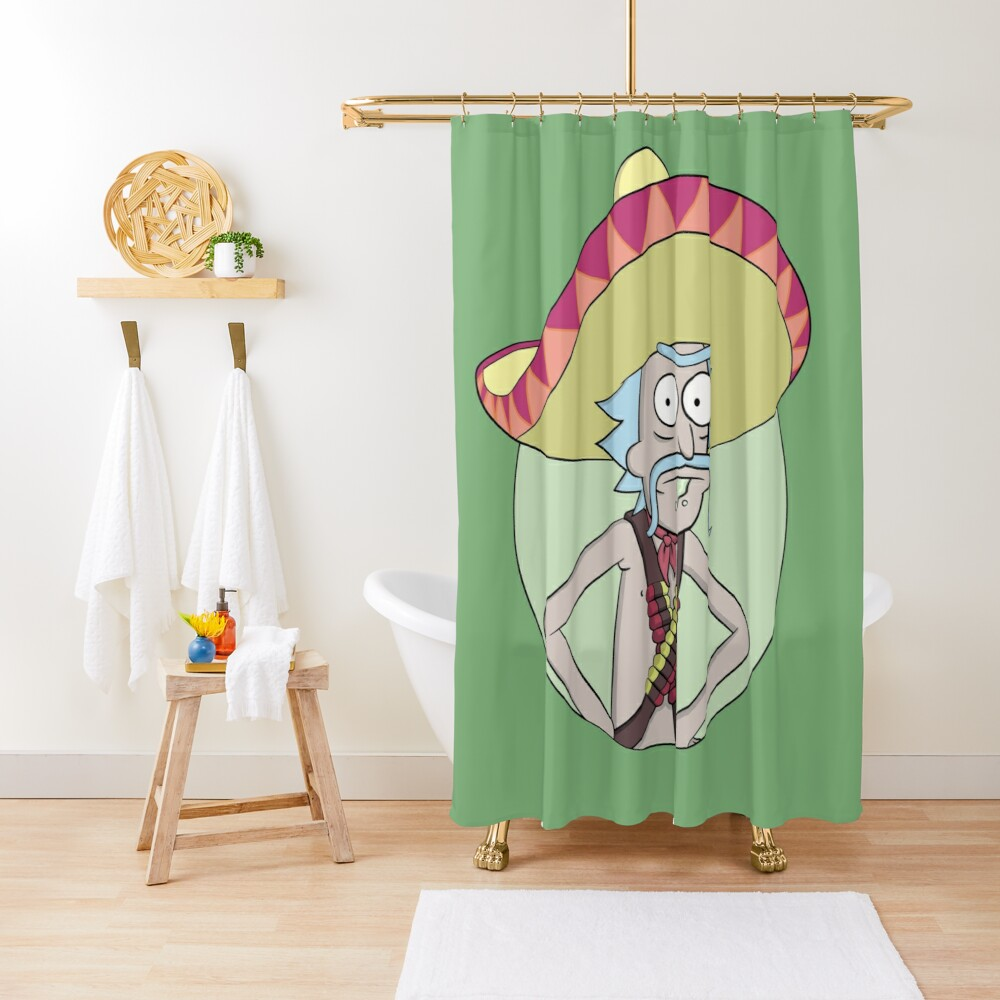 Mexican Rick Sanchez - Rick and Morty Shower Curtain
