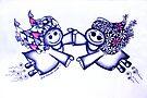 Angel Hugs - truly smitten (blue version) by Lisafrancesjudd