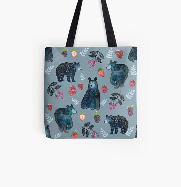 Bärenbeere Allover-Print Tote Bag
