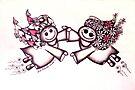 Angel Hugs - truly smitten! (Red version) by Lisafrancesjudd