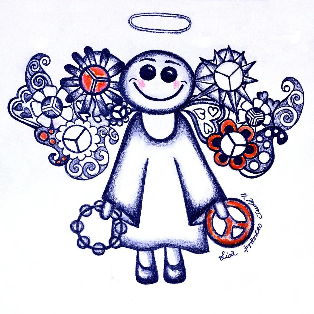 Peace Angel Blue by Lisafrancesjudd