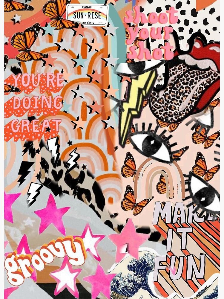 Vsco Collage Background Wallpaper Art Board Print By Madilynrrr Redbubble