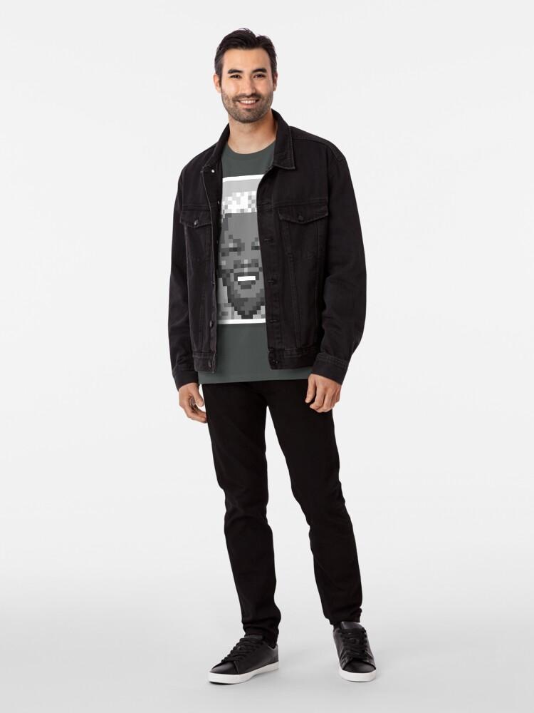 Alternate view of His freedom —Mono Premium T-Shirt